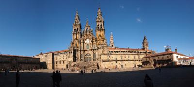 Plaza del Obradoiro de Compostela próximo al Parking San Fernando